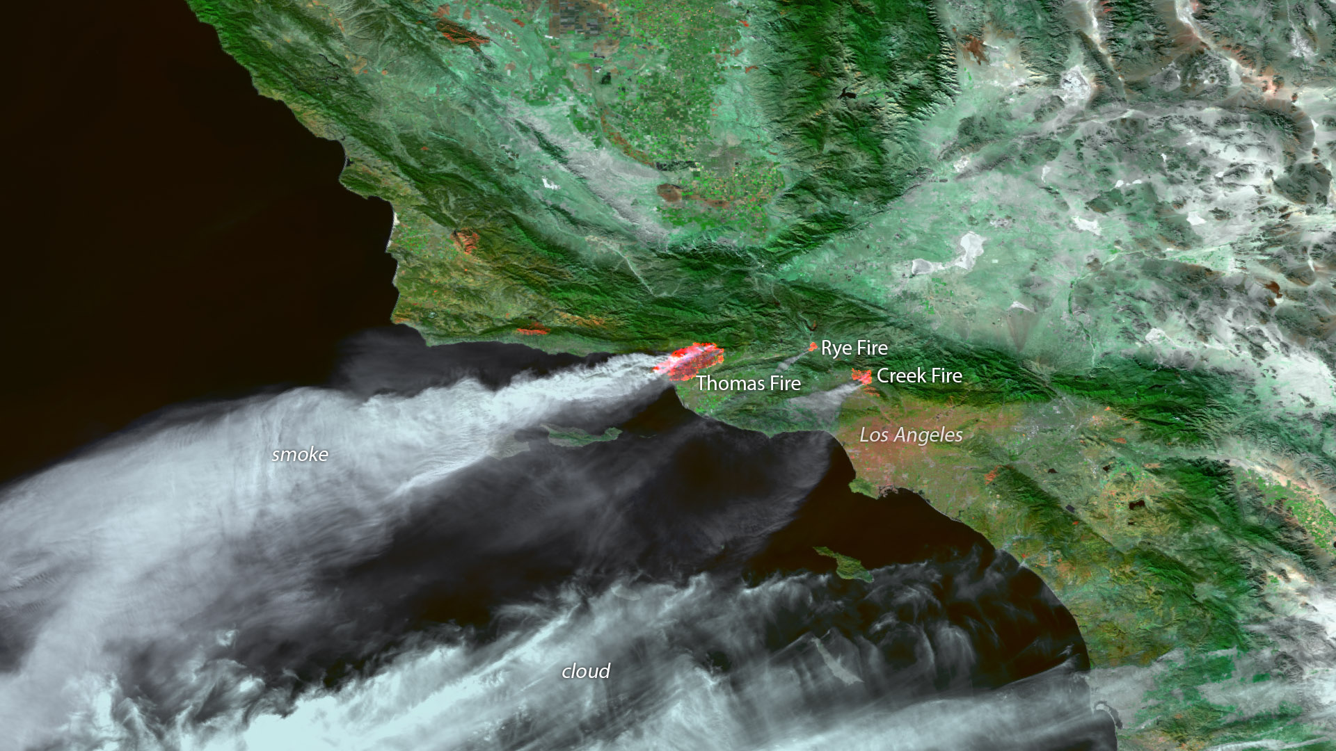 Santa Ana Winds Fuel Southern California Wildfires