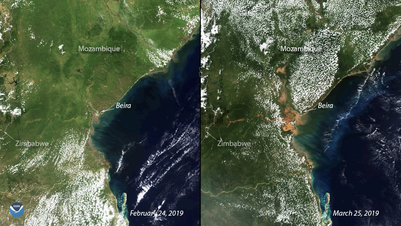 Widespread Flooding Remains Evident in Mozambique After Idai