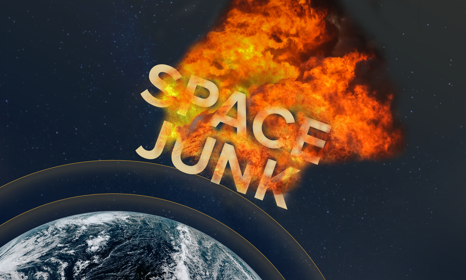 Space Junk Graphic Illustration