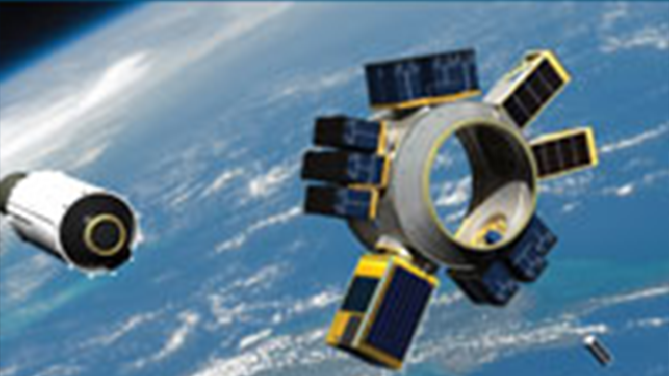 Image of satellites and spacecrafts