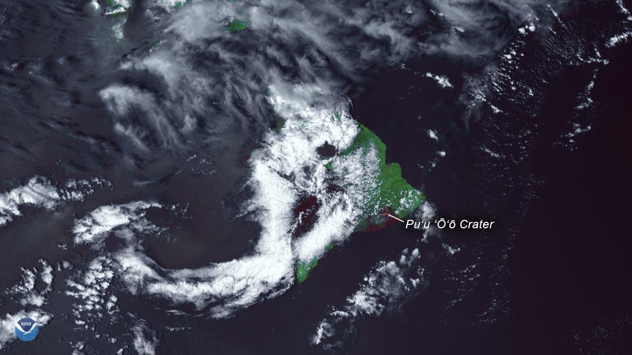 Thermal Hotspots Seen in Hawaii's Kilauea Eruption