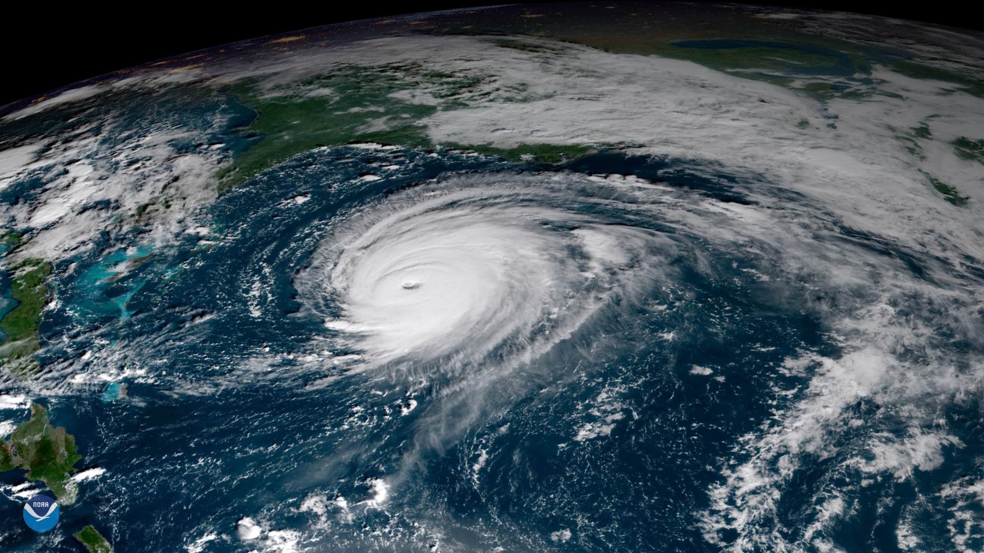 View of Hurricane Florence Approaching East Coast