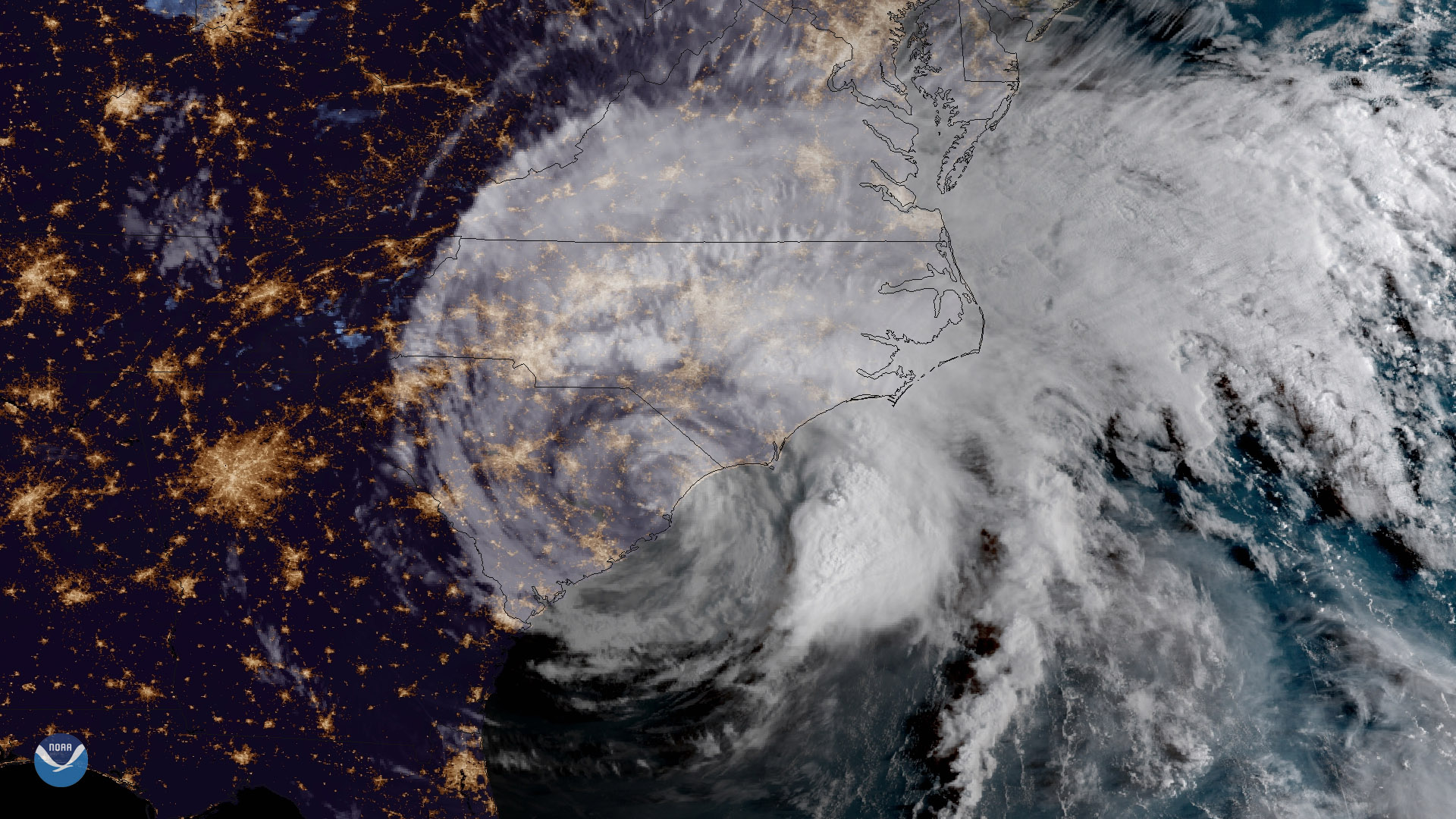 Satellite Imagery of Hurricane Florence - Flooding Threat Continues