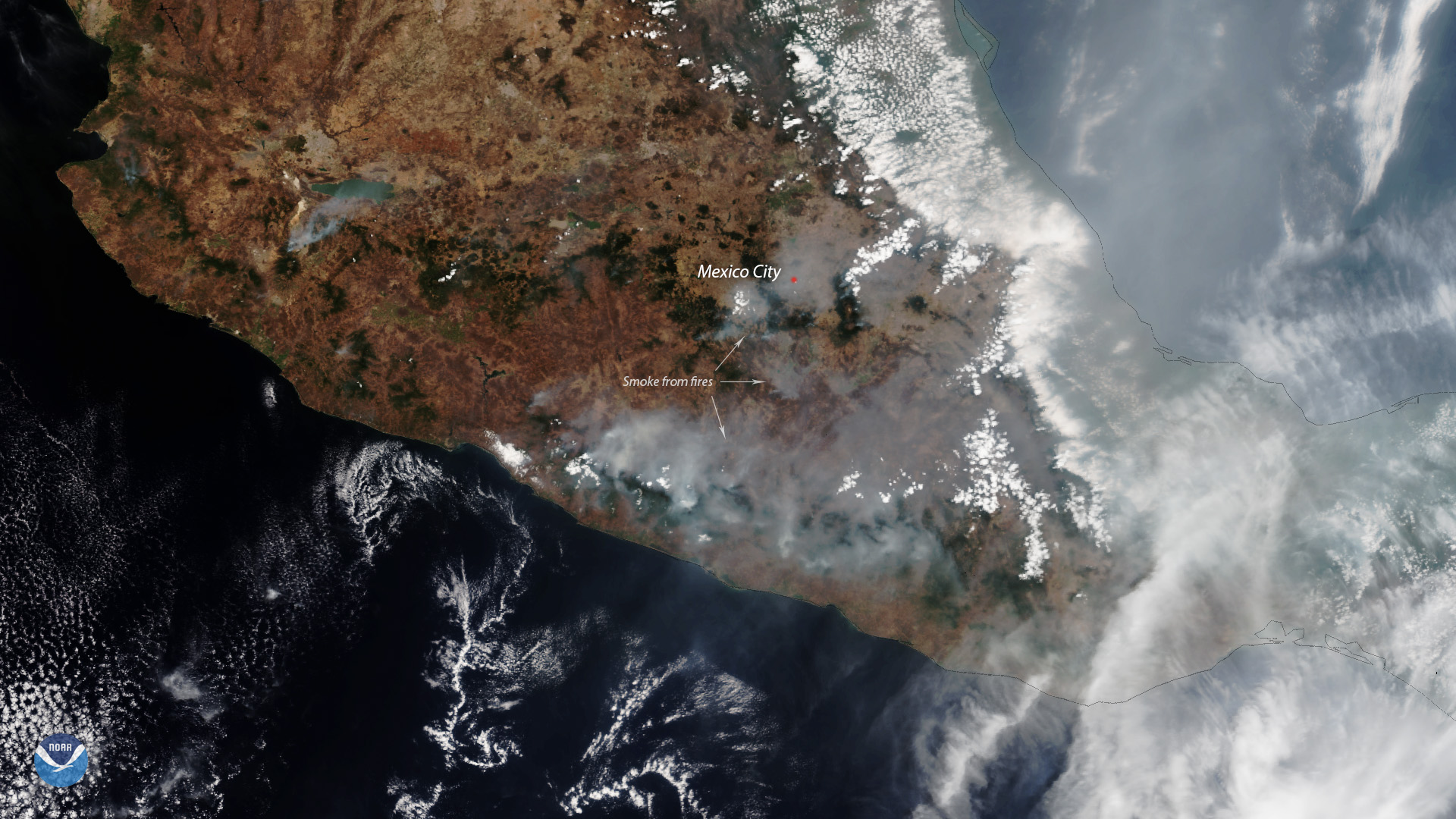 Wildfires Rage Along the Western Gulf of Mexico