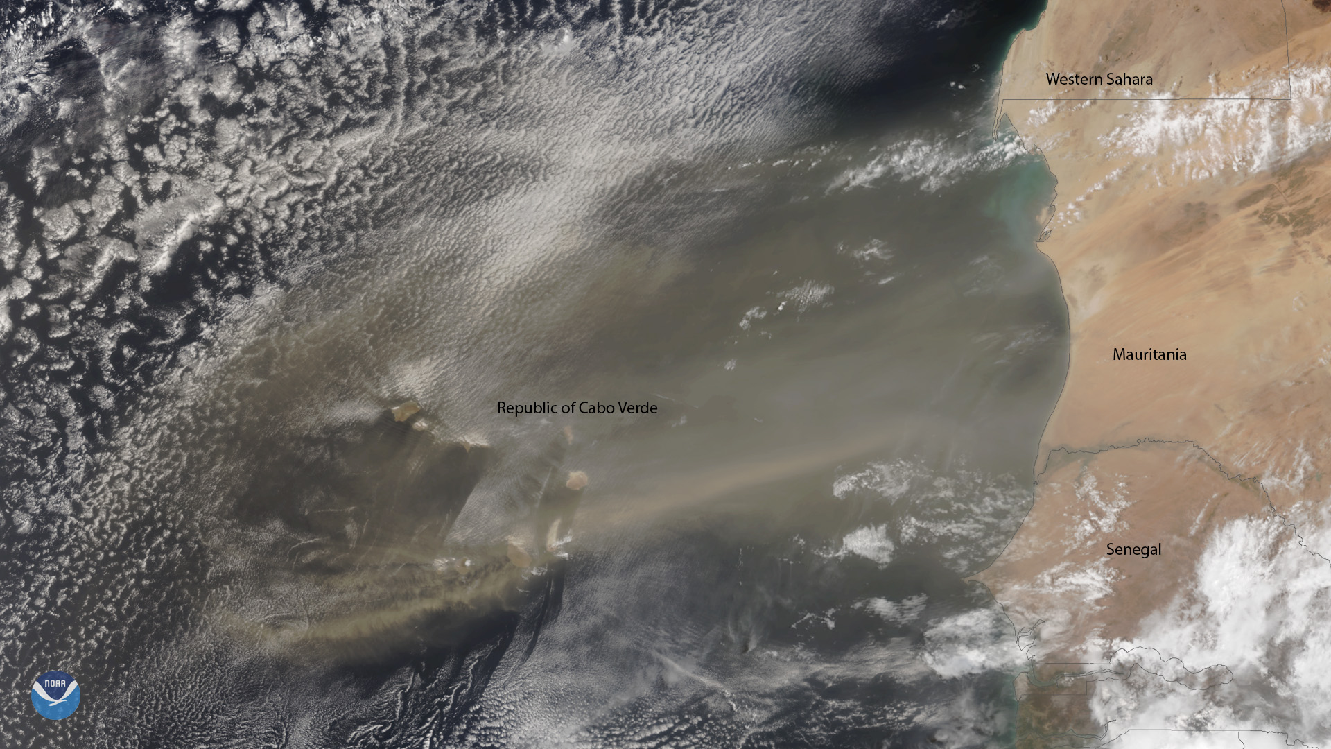 Plume of Saharan Dust Envelops the Republic of Cabo Verde