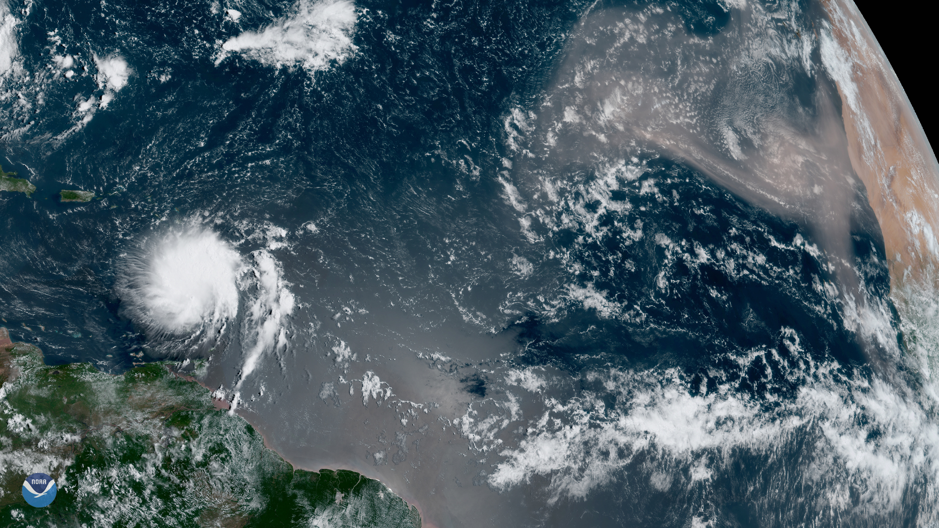 Large Saharan Dust Plume Blows Across the Atlantic
