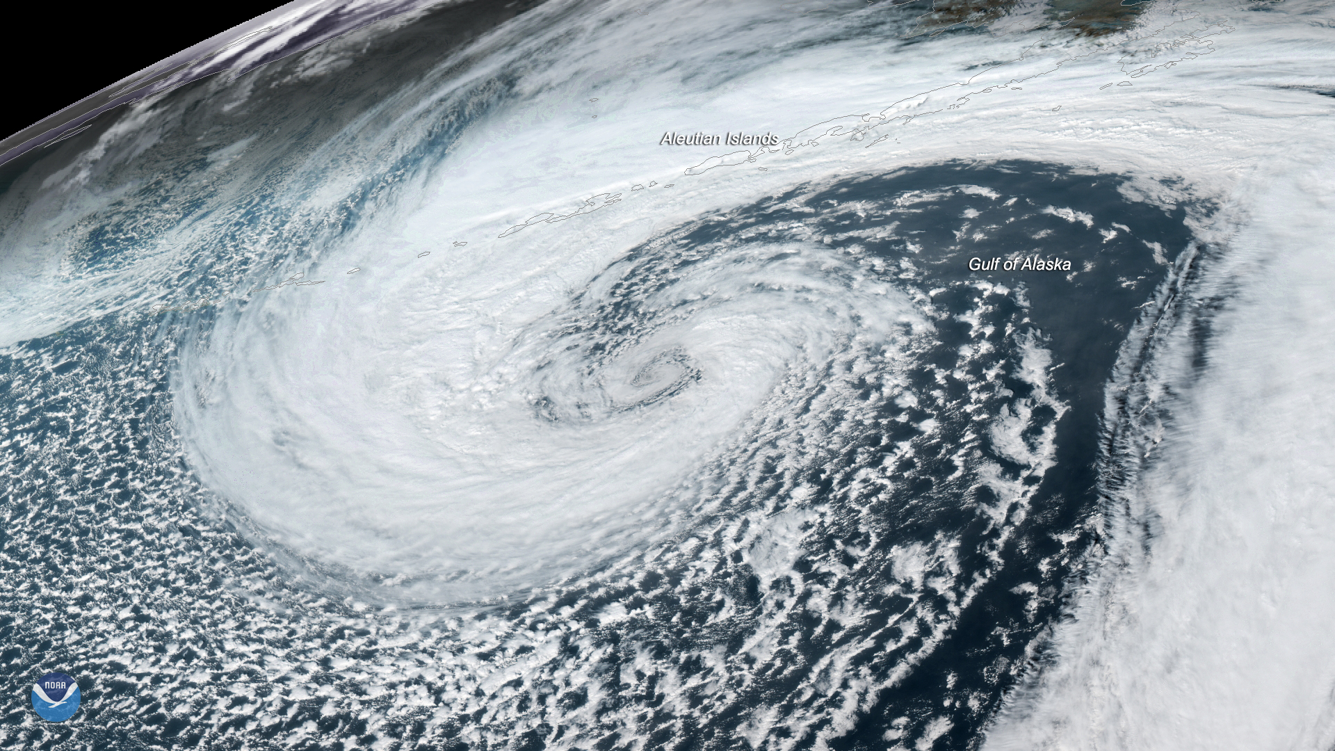 GOES West Watches Mid-Latitude Cyclone in Gulf of Alaska