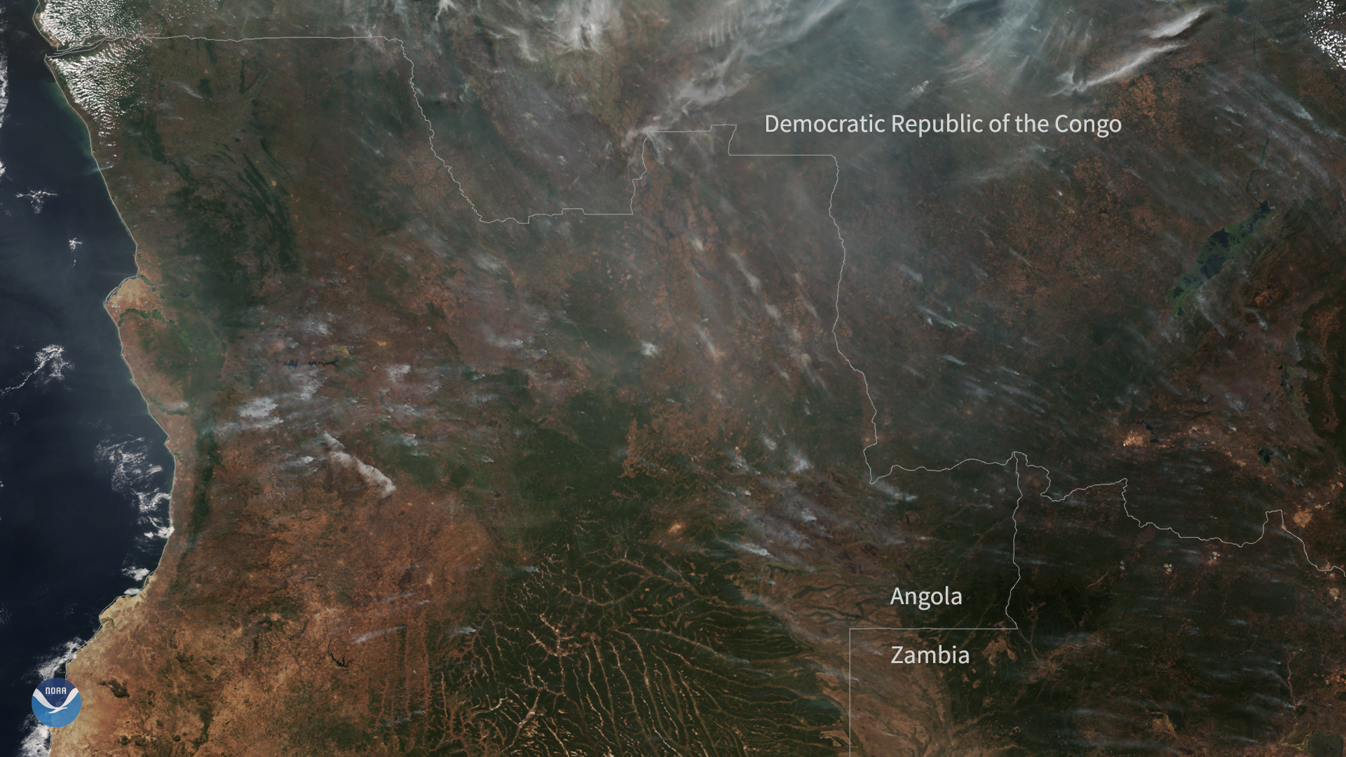 NOAA-20 Spots Fires Burning in Central Africa