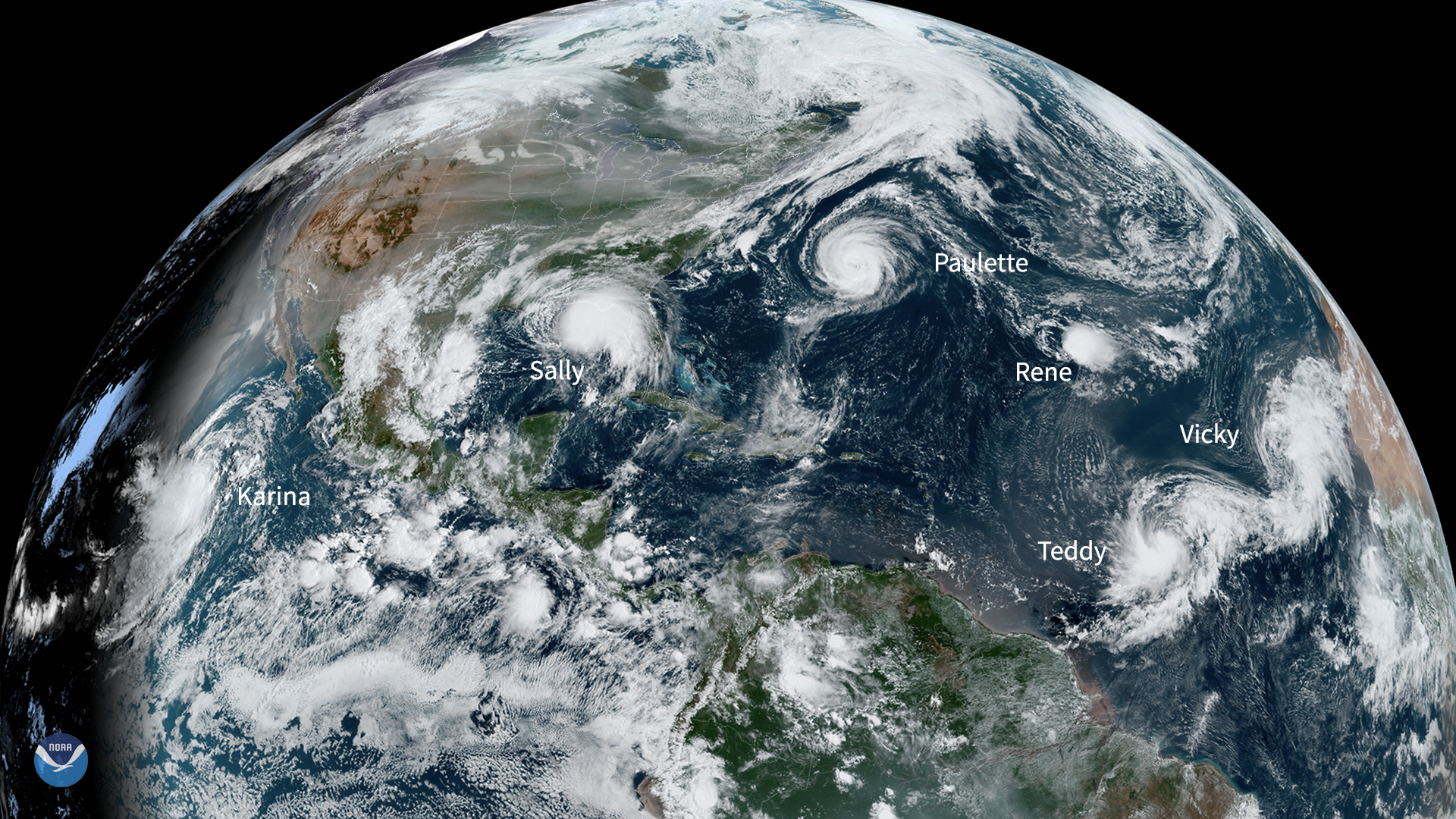 Six Tropical Systems Swirl Around Two Oceans