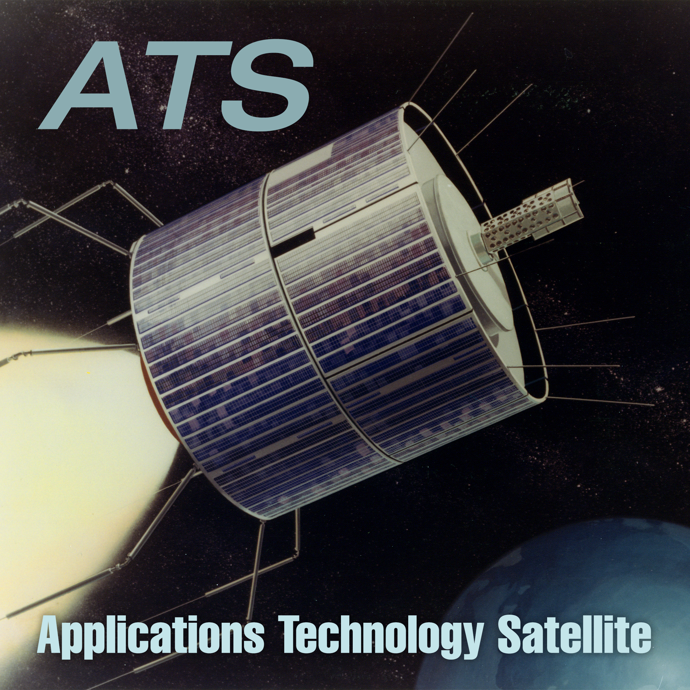 Artist rendering of the ATS-1 satellite.