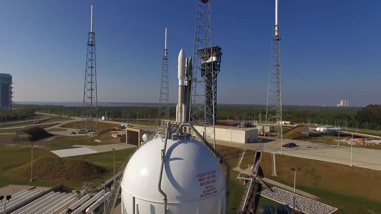 GOES-R on the launch pad, launch in 2 hours