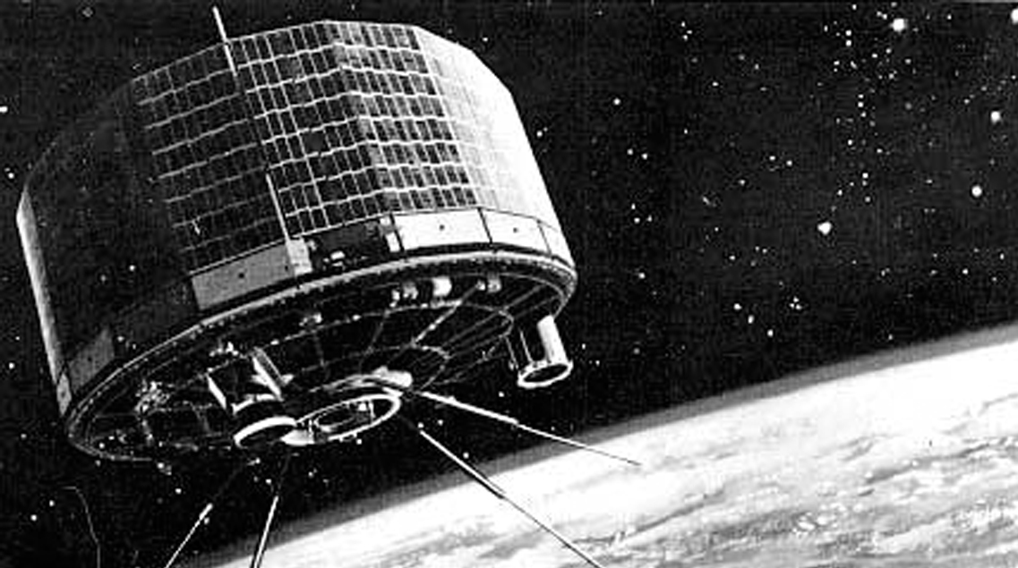 Artist rendering of TIROS 1 in space