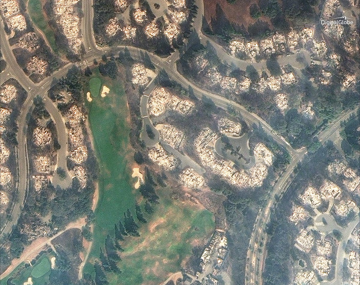 Digital Globe California Fires