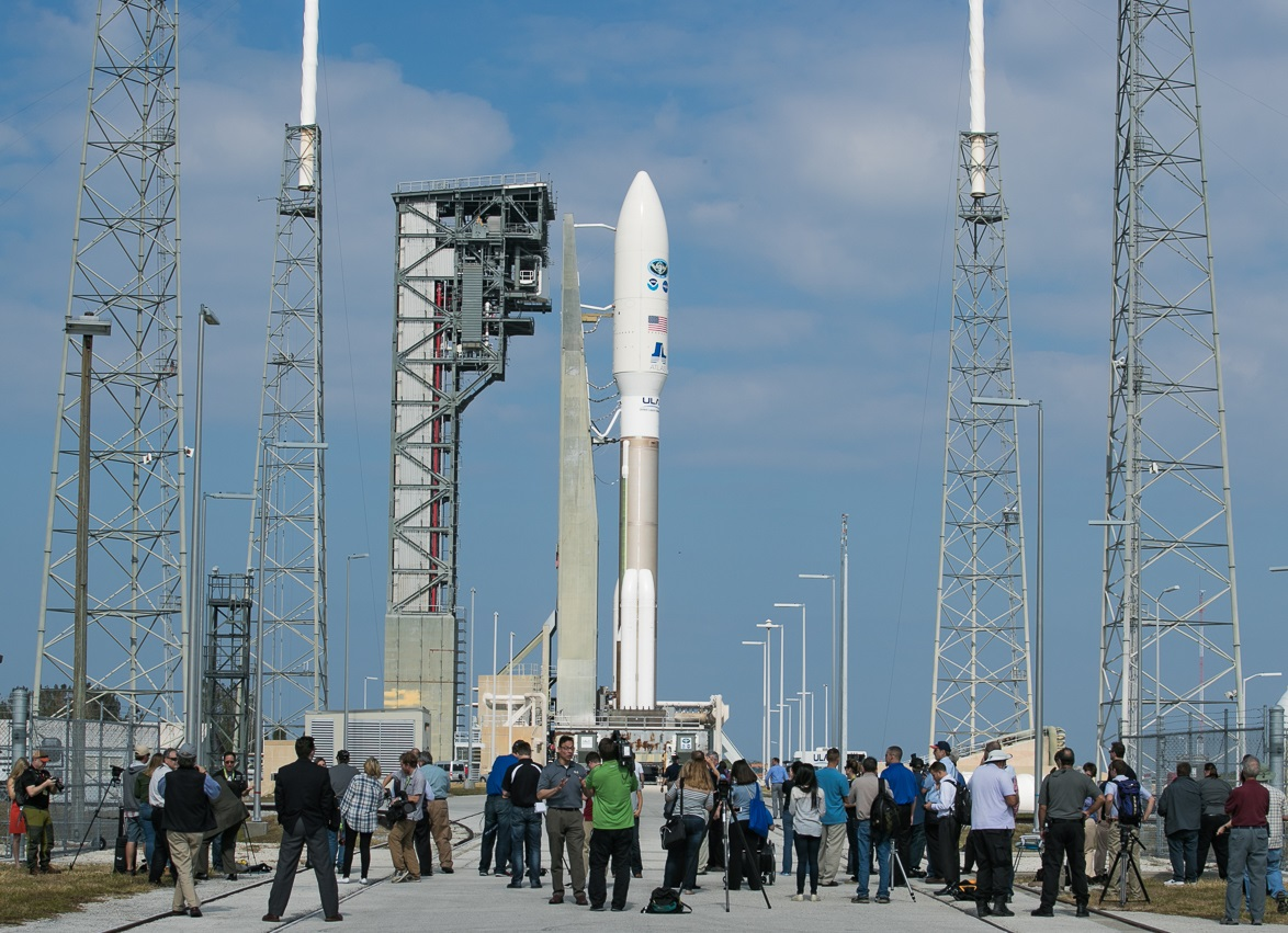 GOES-R on the launch pad