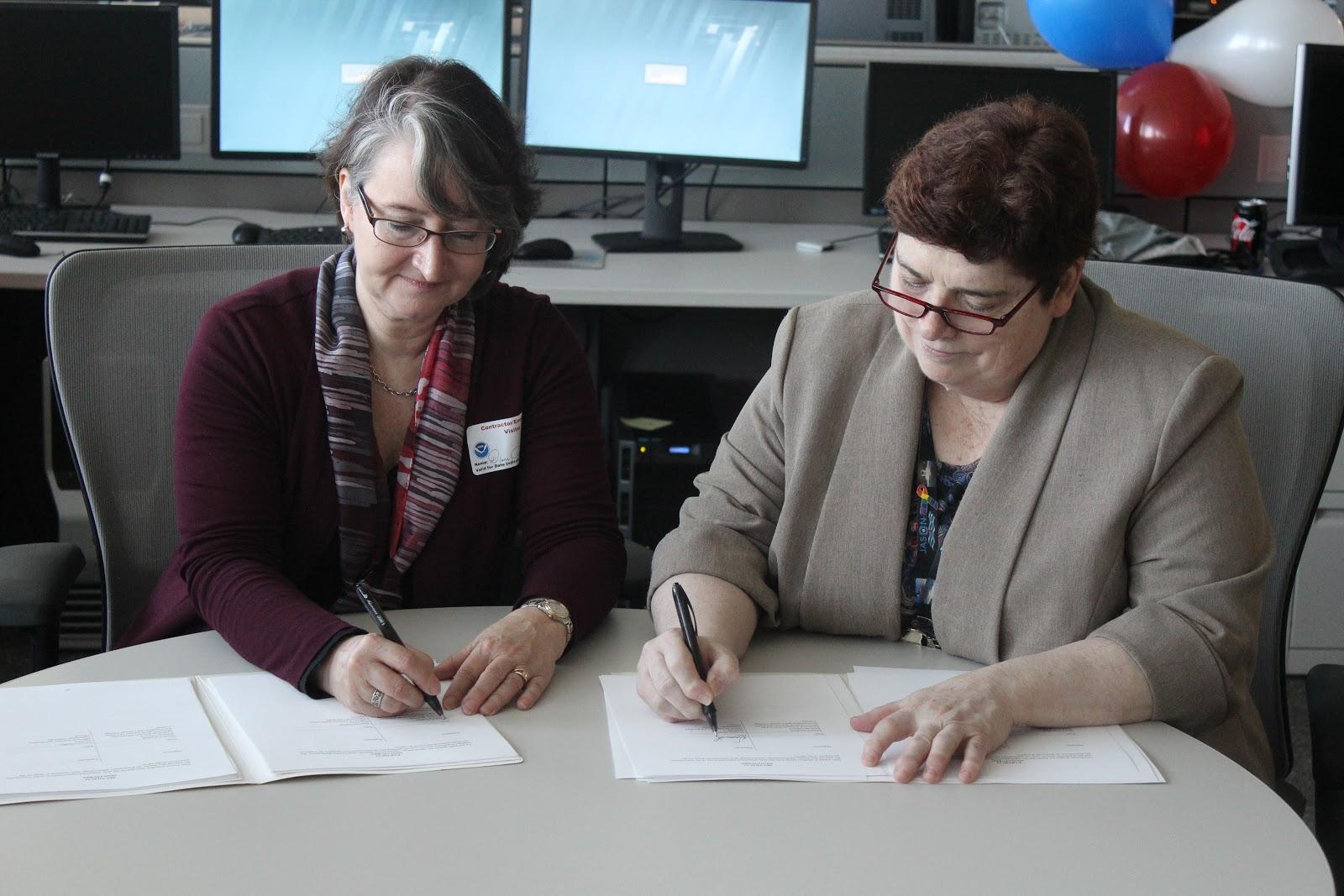 NOAA ECMOU Signing