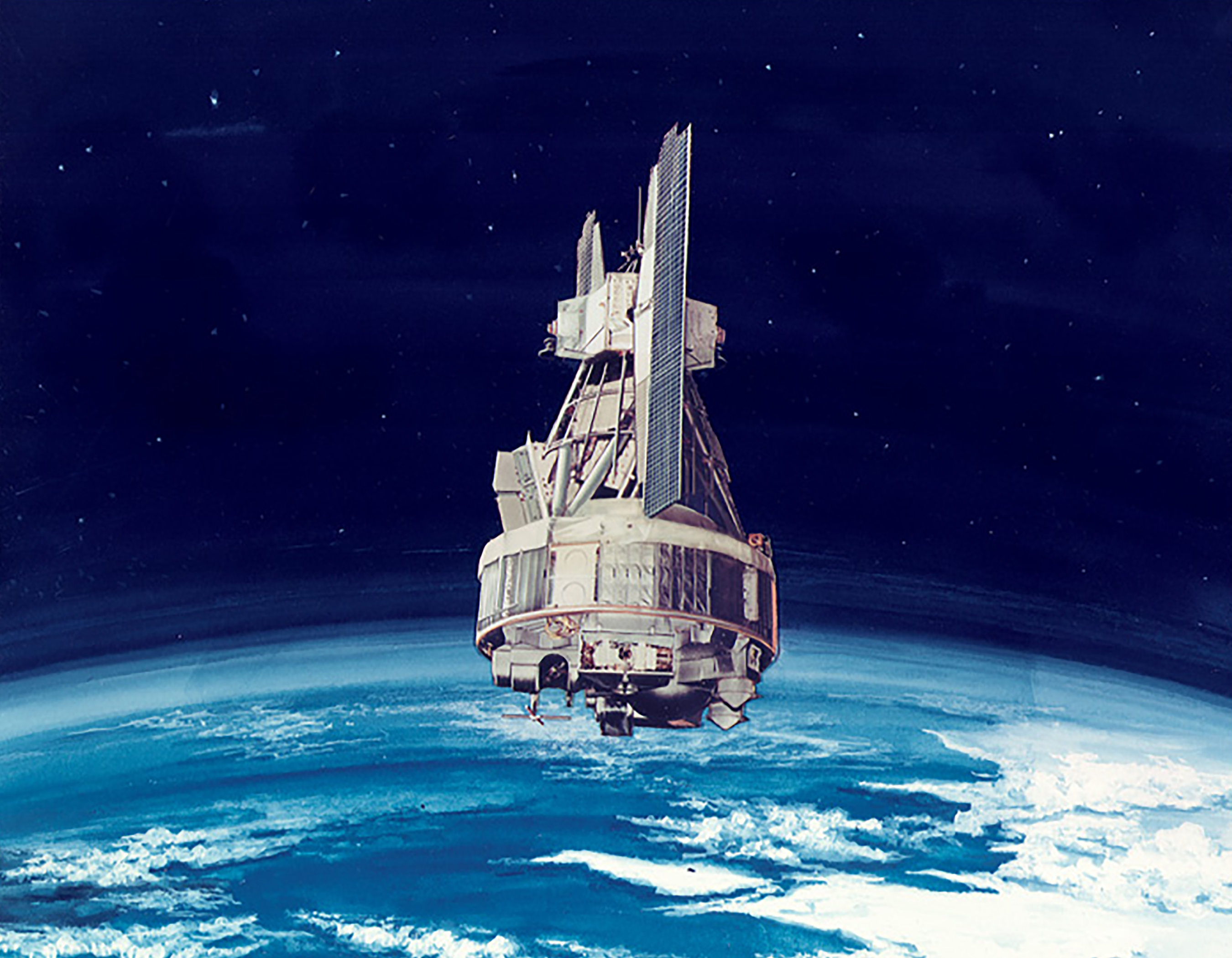 Artist's rendering of the Nimbus-3 spacecraft