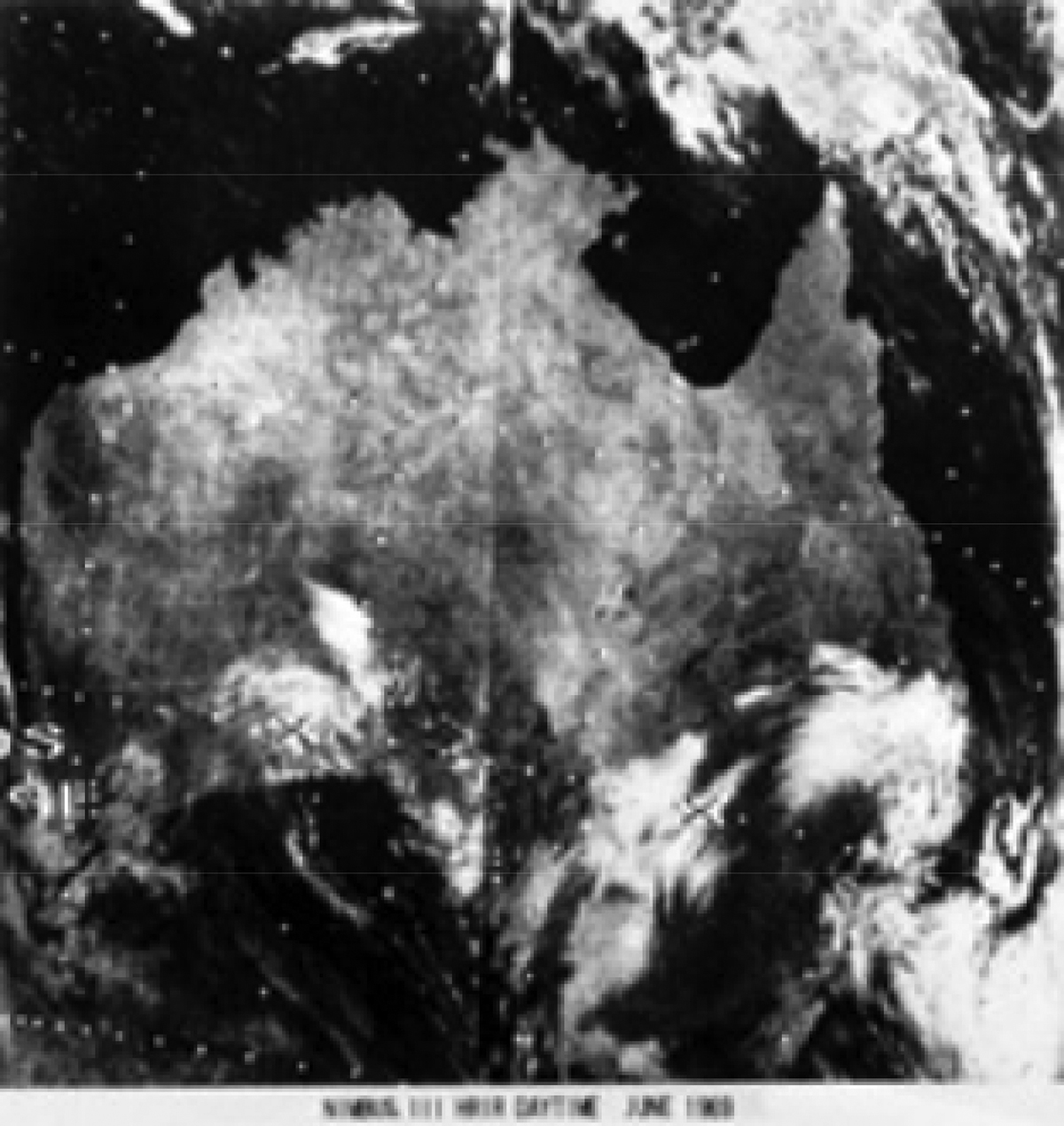 Nimbus-3 view of Australia from 1969