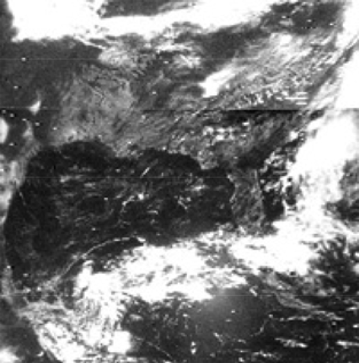 Nimbus-3 image showing clouds over the southeastern U.S.