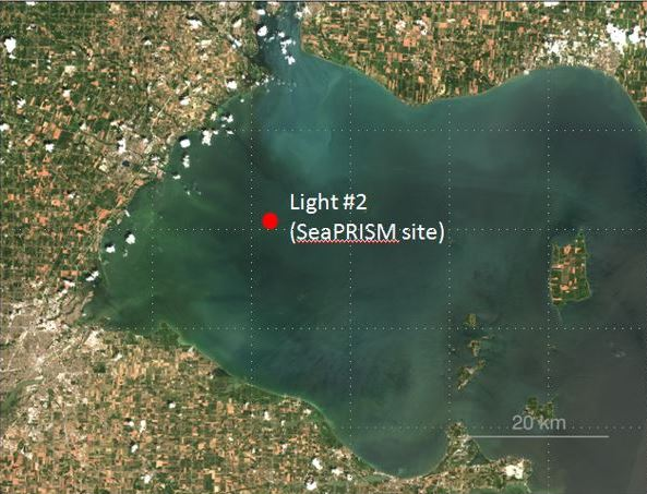 map showing location of sea prism in western lake erie