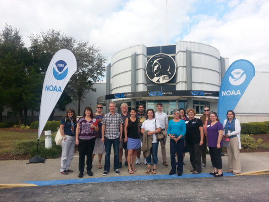 Group shot of teachers from GOES-16 launch