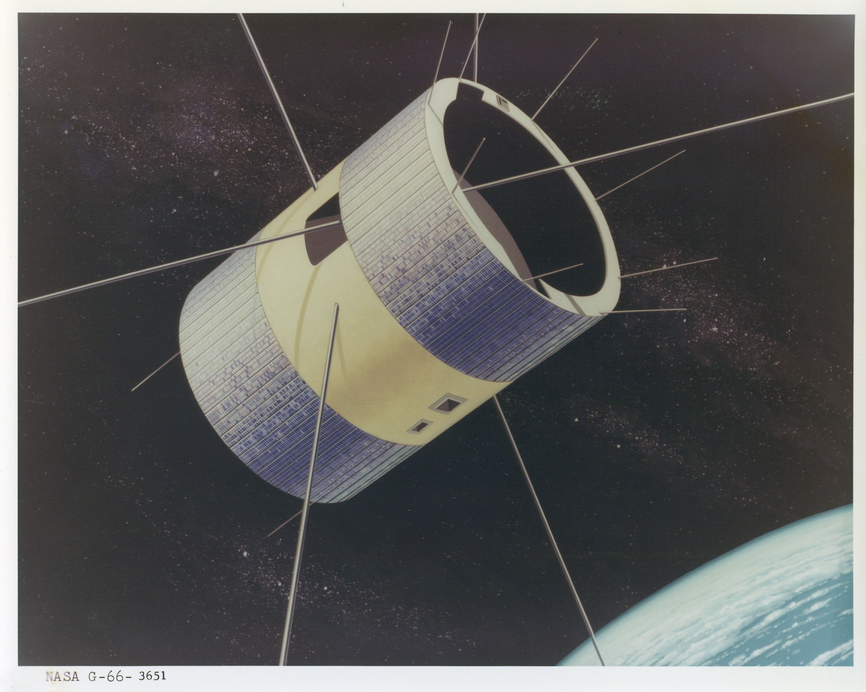 An artist rendering of the ATS-1 spacecraft. Credit: NASA
