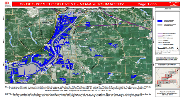 SNPP image of flooding in Illinois