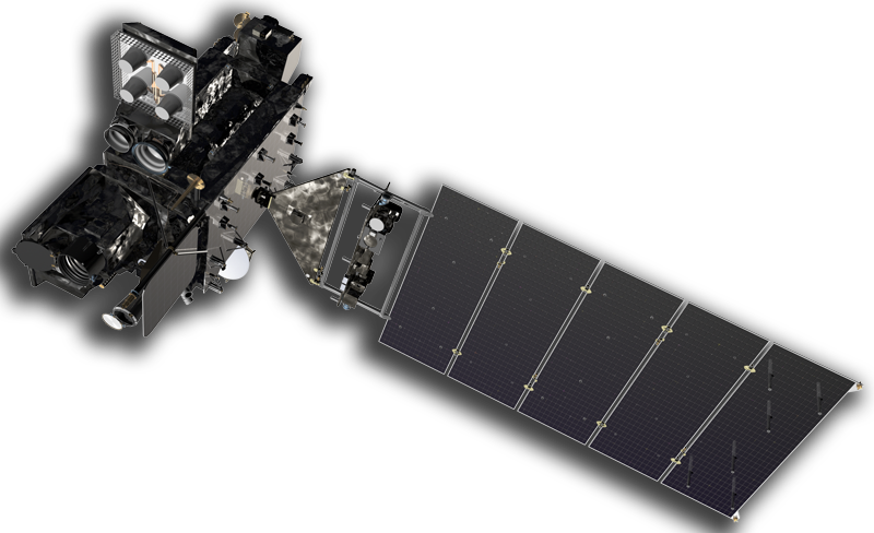 Artist rendering of the GOES-R spacecraft