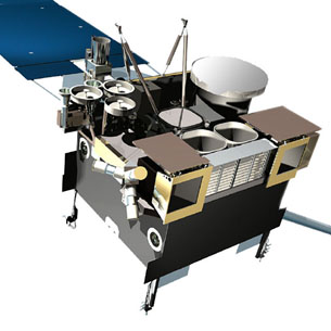 artist's rendering of the GOES-N satellite series