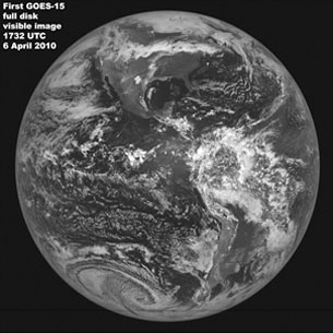 First full-disk image from GOES-15