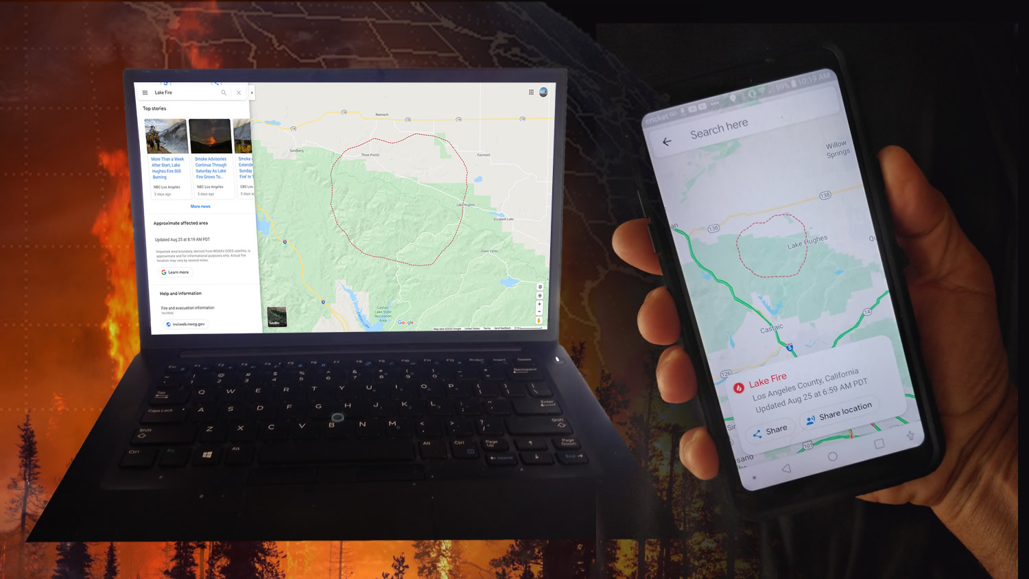 Google Fire Mapping