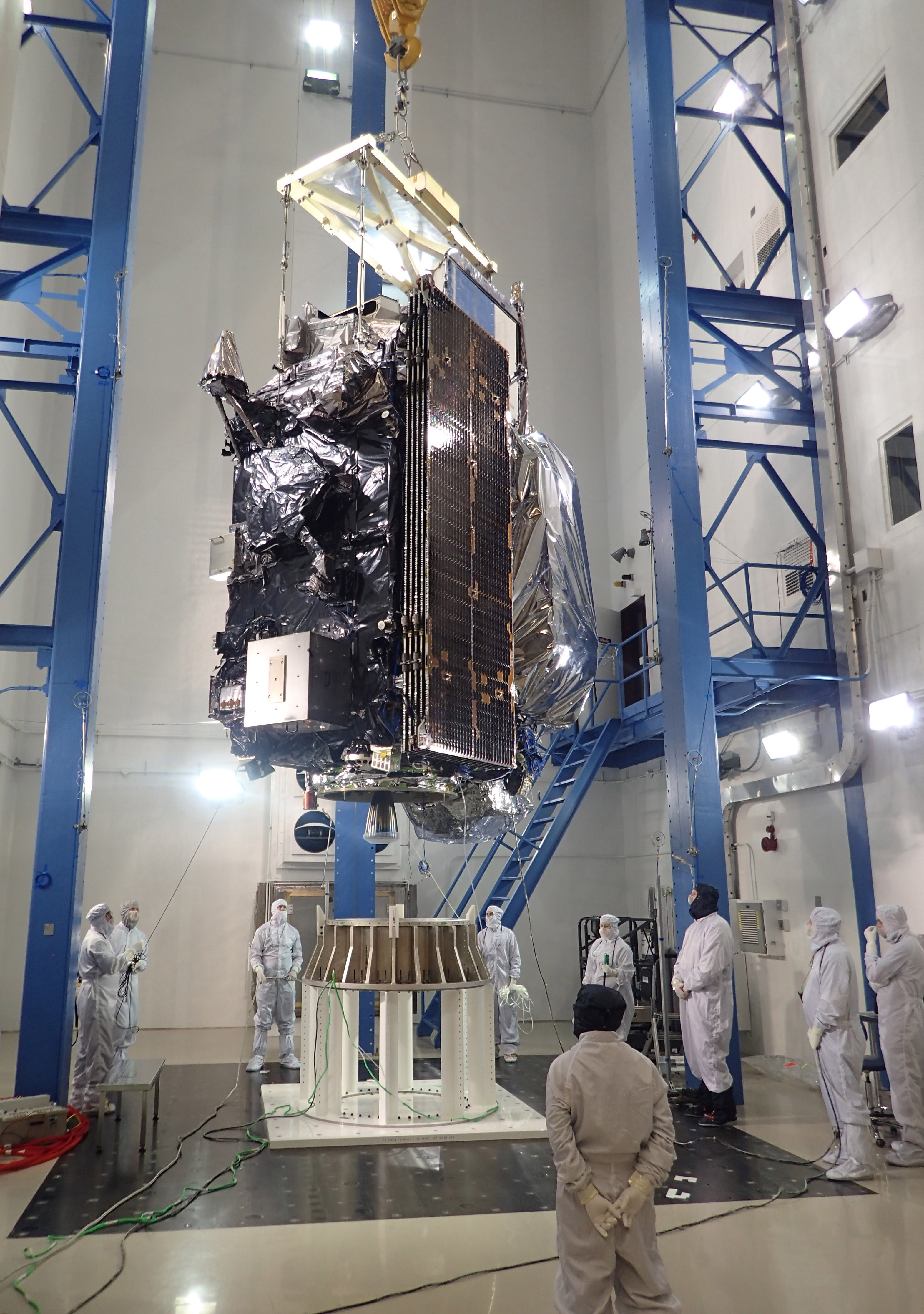 GOES-R satellite in acoustics testing
