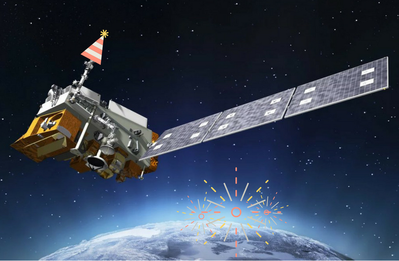 NOAA Satellite Illustration