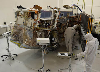 JPSS-1 satellite undergoes solar array fit checks