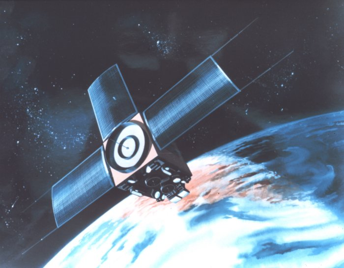 Artist rendering of early satellite