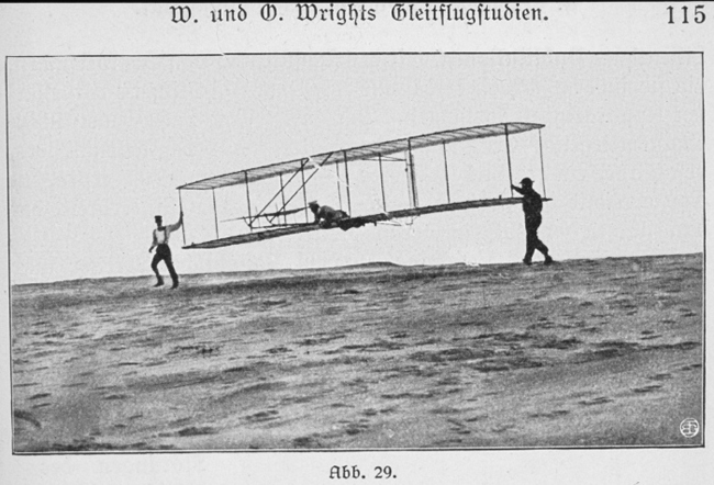 Historic image of Wright Brothers flight